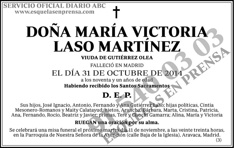 María Victoria Laso Martínez
